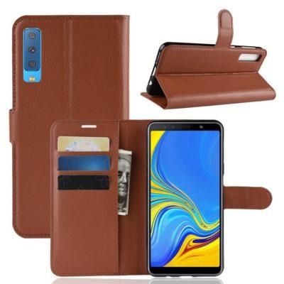 Samsung Galaxy A7 (2018) Kotelo Ruskea Lompakko