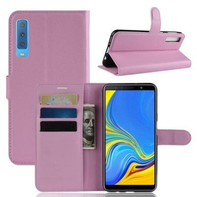 Samsung Galaxy A7 (2018) Kotelo Vaaleanpunainen Lompakko