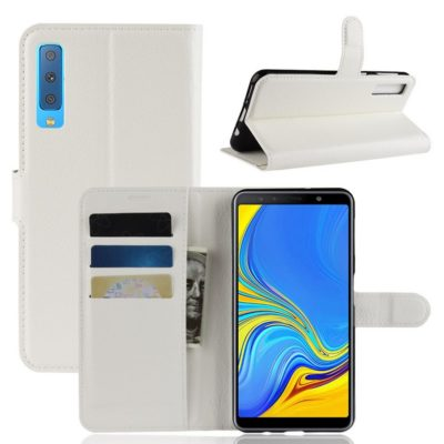 Samsung Galaxy A7 (2018) Kotelo Valkoinen Lompakko