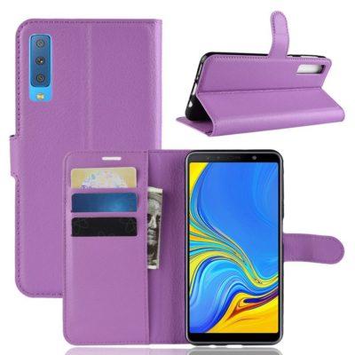 Samsung Galaxy A7 (2018) Kotelo Violetti Lompakko