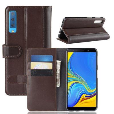 Samsung Galaxy A7 (2018) Suojakotelo Ruskea Nahka