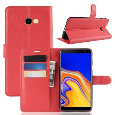 Samsung Galaxy J6+ (2018) Lompakkokotelo Punainen