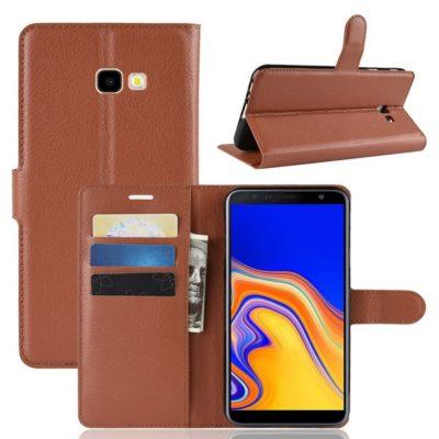 Samsung Galaxy J4+ (2018) Suojakotelo Ruskea