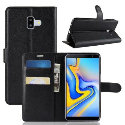 Samsung Galaxy J6+ (2018) Lompakkokotelo Musta