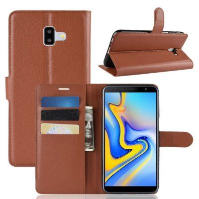 Samsung Galaxy J6+ (2018) Lompakkokotelo Ruskea