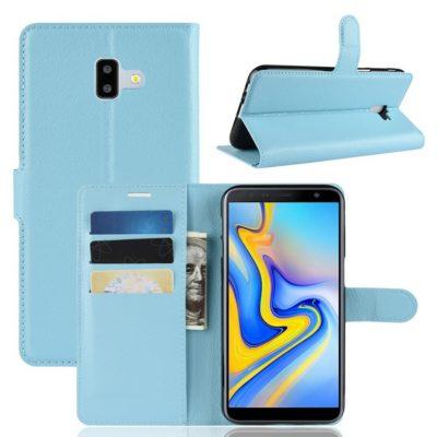 Samsung Galaxy J6+ (2018) Lompakkokotelo Sininen