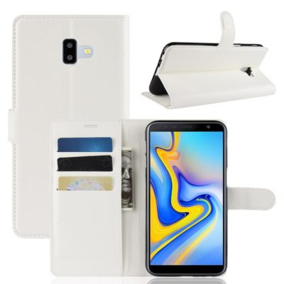 Samsung Galaxy J6+ (2018) Lompakkokotelo Valkoinen