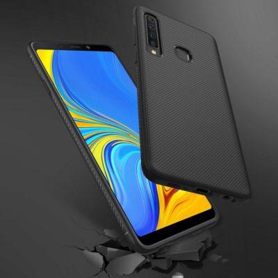 Samsung Galaxy A9 (2018) Suojakuori Silikoni Musta