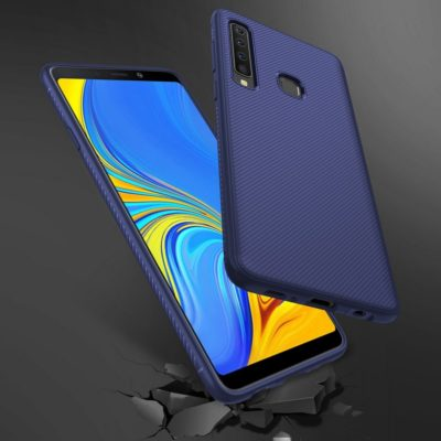 Samsung Galaxy A9 (2018) Suojakuori Silikoni Sininen