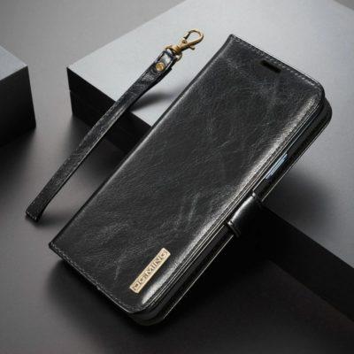 Samsung Galaxy S9+ Nahkakotelo DG.MING Musta