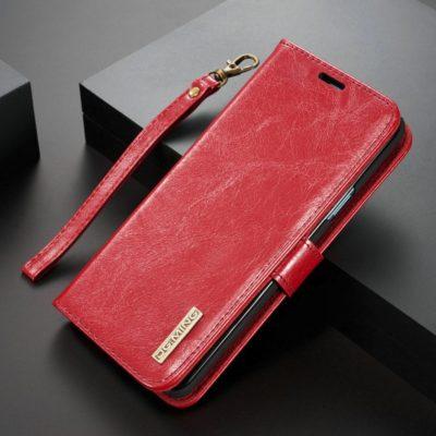 Samsung Galaxy S9+ Nahkakotelo DG.MING Punainen