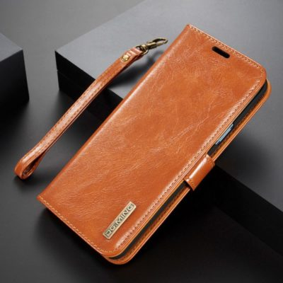 Samsung Galaxy S9+ Nahkakotelo DG.MING Ruskea