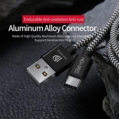 Dux Ducis Punottu USB-C Kaapeli 3m 2.1A