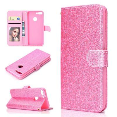 Huawei Honor 9 Lite Suojakotelo Glitter Pinkki