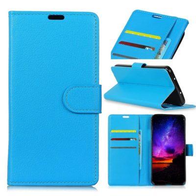 Huawei Honor View 20 Suojakotelo Sininen Lompakko