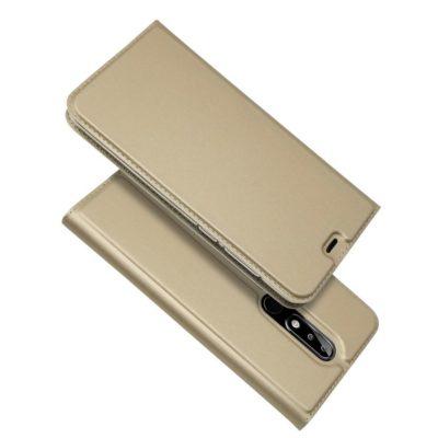 Nokia 5.1 Plus Kannellinen Suojakotelo Kulta