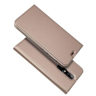 Nokia 5.1 Plus Kannellinen Suojakotelo Ruusukulta