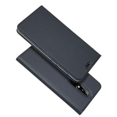 Nokia 5.1 Plus Kannellinen Suojakotelo Tummanharmaa