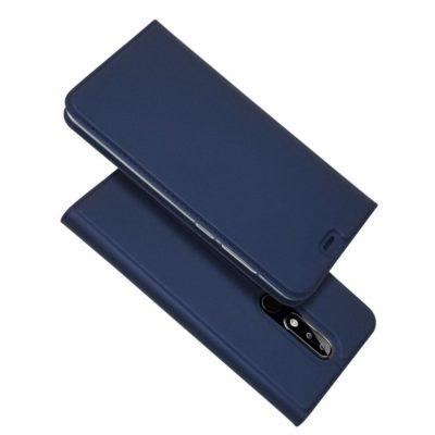 Nokia 5.1 Plus Kannellinen Suojakotelo Tummansininen