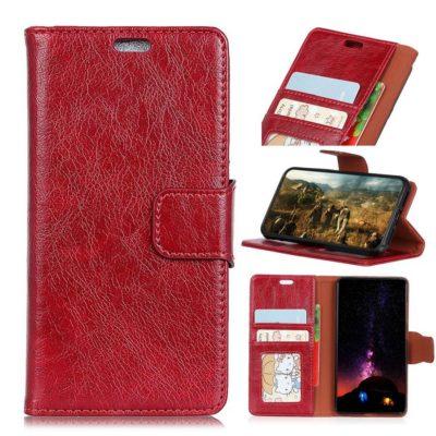 Nokia 5.1 Plus Suojakotelo Punainen Nahka