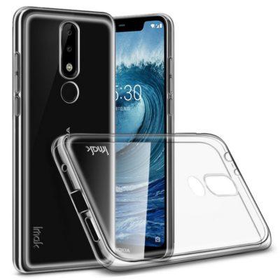 Nokia 5.1 Plus Suojakuori IMAK Läpinäkyvä + Kalvo