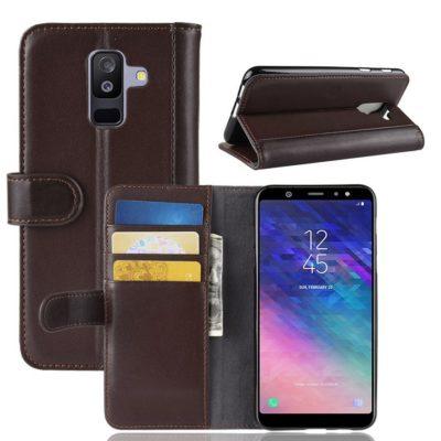 Samsung Galaxy A6+ (2018) Suojakotelo Ruskea Nahka