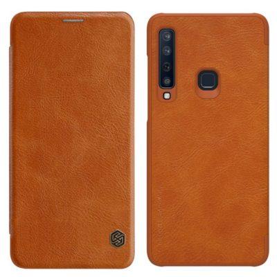 Samsung Galaxy A9 (2018) Kotelo Nillkin Qin Ruskea