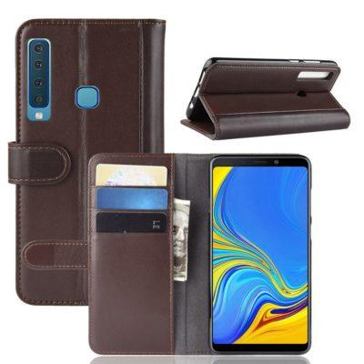 Samsung Galaxy A9 (2018) Suojakotelo Ruskea Nahka