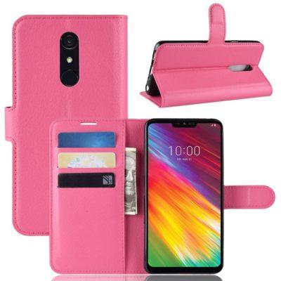 LG G7 Fit Suojakotelo PU-Nahka Pinkki
