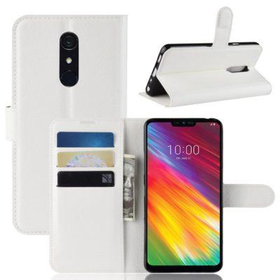 LG G7 Fit Suojakotelo PU-Nahka Valkoinen