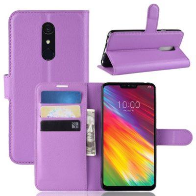 LG G7 Fit Suojakotelo PU-Nahka Violetti