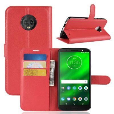 Motorola Moto G6 Plus Suojakotelo Punainen