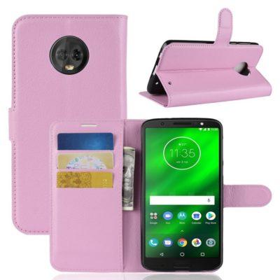 Motorola Moto G6 Plus Suojakotelo Vaaleanpunainen