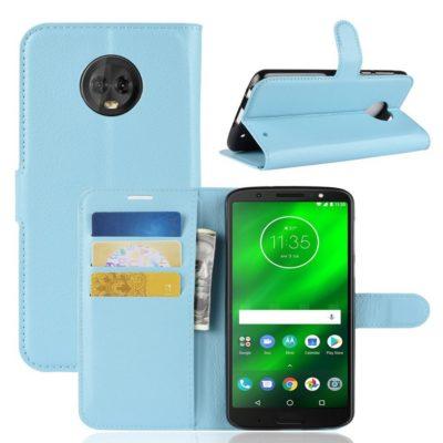 Motorola Moto G6 Plus Suojakotelo Vaaleansininen