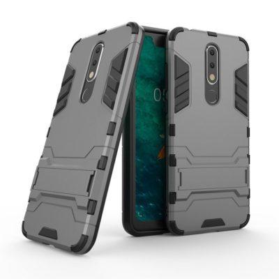 Nokia 5.1 Plus Kuori 2-osainen Harmaa