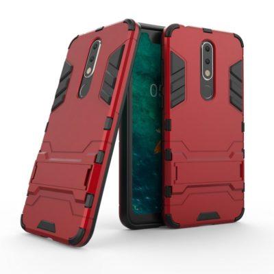 Nokia 5.1 Plus Kuori 2-osainen Punainen