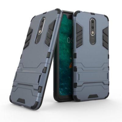 Nokia 5.1 Plus Kuori 2-osainen Tummansininen