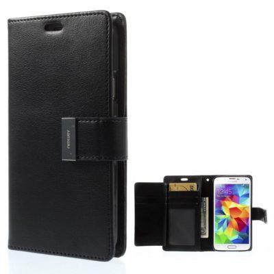 Samsung Galaxy S5 Kotelo Rich Diary Musta