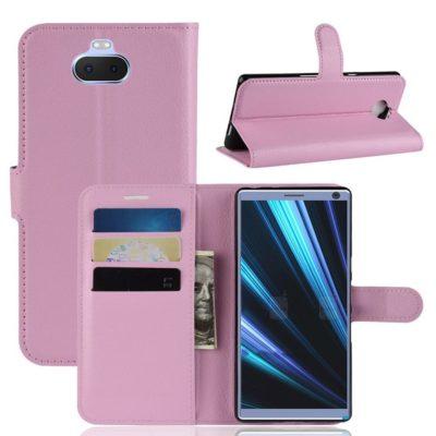 Sony Xperia 10 Suojakotelo Vaaleanpunainen Lompakko