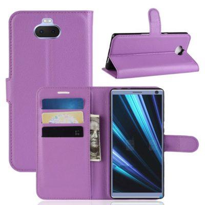 Sony Xperia 10 Suojakotelo Violetti Lompakko