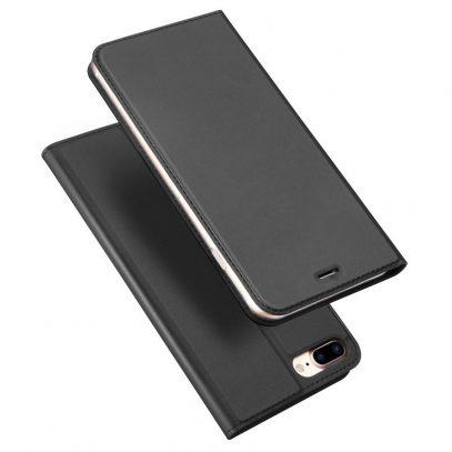 Apple iPhone 7 / 8 Plus Kotelo Dux Ducis Tummanharmaa