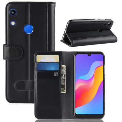 Huawei Honor 8A Suojakotelo Musta Nahka