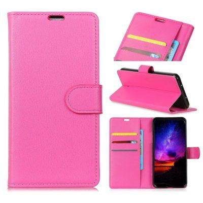 Huawei Honor 8A Suojakotelo Pinkki Lompakko