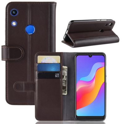 Huawei Honor 8A Suojakotelo Ruskea Nahka