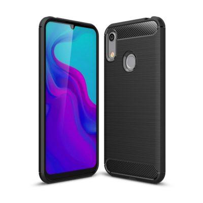 Huawei Honor 8A Suojakuori Hiilikuitu Musta