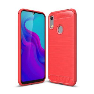 Huawei Honor 8A Suojakuori Hiilikuitu Punainen