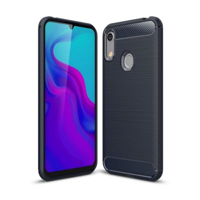 Huawei Honor 8A Suojakuori Hiilikuitu Tummansininen