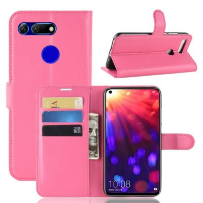 Huawei Honor View 20 Kotelo PU-Nahka Pinkki