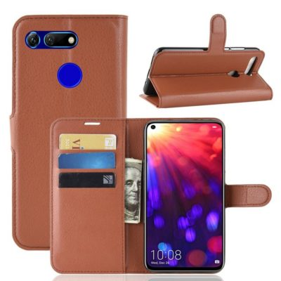 Huawei Honor View 20 Kotelo PU-Nahka Ruskea