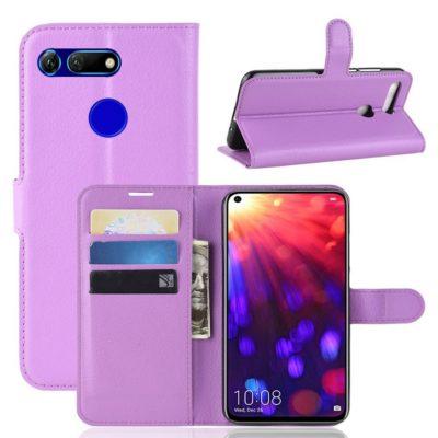 Huawei Honor View 20 Kotelo PU-Nahka Violetti
